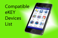 Compatible eKEY devices